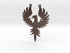 Phoenix large in Polished Bronze Steel