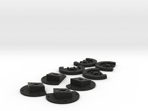 Walkera Runner 250 10 degree forward tilted MotorM in Black Natural Versatile Plastic
