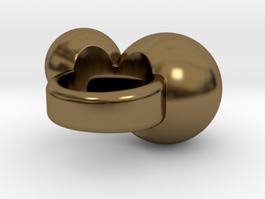 """""""BUBBLES""""_Women ring in Polished Bronze"""