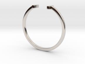 Minimal Elegance Bracelet in Rhodium Plated Brass