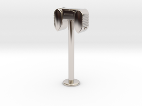 Drive In Speaker / Stand  - 1:7.5 Scale in Rhodium Plated