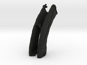 Saber Body L-R in Black Natural Versatile Plastic