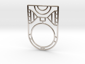 Screaming Warrior One RING - 5 3/8 in Rhodium Plated Brass