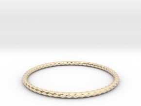 Diamond Pattern Bracelet USA Size X-Large in 14k Gold Plated Brass