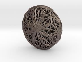 Voronoi-Parabola-Pendant1 in Polished Bronzed Silver Steel