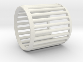 Napkin Ring Cage in White Natural Versatile Plastic