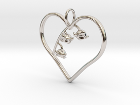 Lily of the Valley in Rhodium Plated Brass