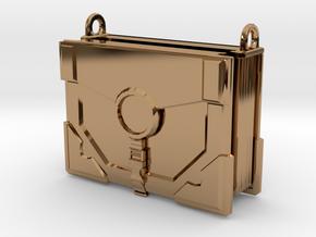 """The Traveler"" Locket (4cm, No Symbol) in Polished Brass"