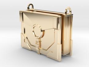 """The Traveler"" Locket (6cm, No Symbol) in 14k Gold Plated Brass"