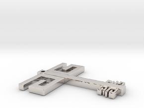 Gwen G Key Flat in Platinum