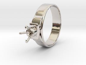 Design Ring Ø18.20 Mm For Diamond Ø5.2 Mm Model F2 in Platinum