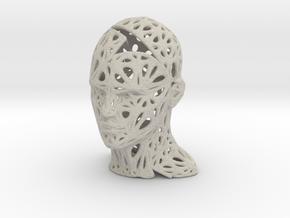 Male Voronoi Head Scale 0.5 in Natural Sandstone