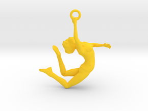 Ballerina Dancer Earing , Pendant in Yellow Strong & Flexible Polished