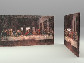 The Last Supper (Leonardo da Vinci) in Full Color Sandstone