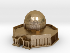 Dome of the Rock in Polished Gold Steel