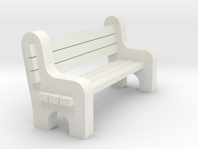 Street Bench 'O' 48:1 Scale in White Strong & Flexible