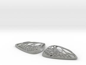 Metal Butterfly Earrings (L) in Metallic Plastic