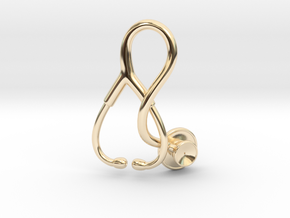 Stethoscope Pendant in 14K Yellow Gold