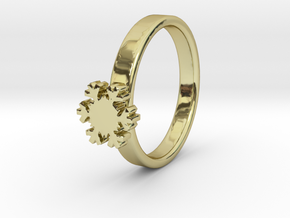 Snowflake Ring 20 Mm in 18k Gold