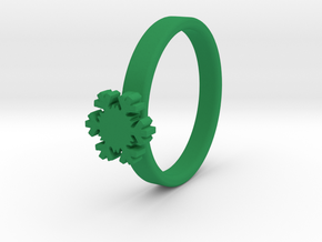Snowflake Ring 20 Mm in Green Processed Versatile Plastic