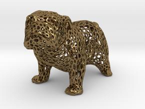 Bulldog Voronoi 45mm in Polished Bronze