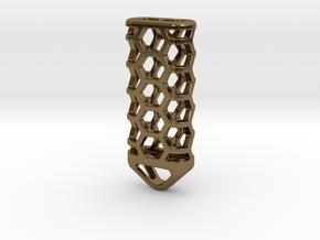 Hex Lantern X3: Tritium (All Materials) in Polished Bronze
