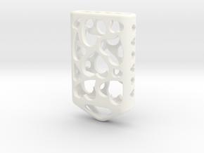 Heart Lantern X5: Tritium (All Materials) in White Processed Versatile Plastic