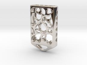 Heart Lantern X5: Tritium (All Materials) in Rhodium Plated Brass