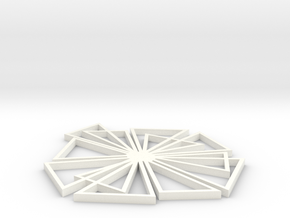 Flake in White Processed Versatile Plastic