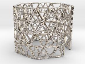 Georifer Bracelet / Cuff in Rhodium Plated Brass