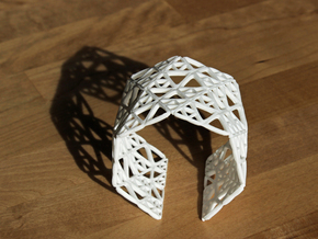 Georifer Bracelet / Cuff in White Natural Versatile Plastic