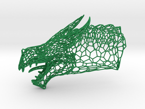 Dragon Trophy Wireframe 130mm in Green Processed Versatile Plastic