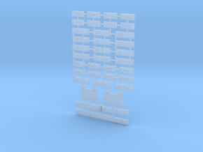 Switch Plate Array O Scale in Smooth Fine Detail Plastic