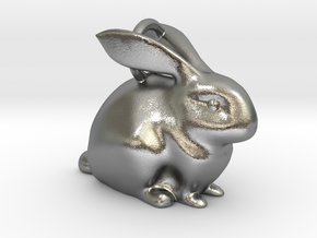 Bunny Pendant  in Natural Silver