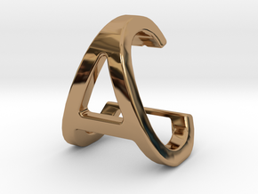 AC CA - Two way letter pendant in Polished Brass