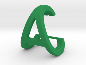 AC CA - Two way letter pendant in Green Processed Versatile Plastic