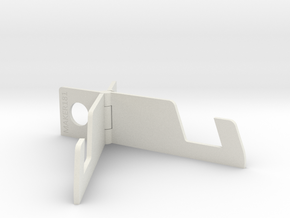 Phone / Tablet Stand MK6 in White Natural Versatile Plastic