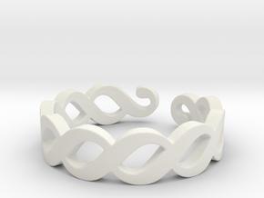 Section sign (Pykälä merkki) Ring Size 7 in White Natural Versatile Plastic