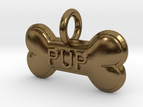 PUP charm in Polished Bronze