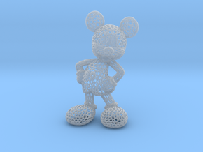 Mickey Voronoi 100mm in Smooth Fine Detail Plastic