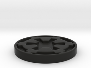 Imperial Coaster in Black Natural Versatile Plastic