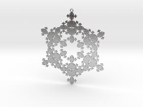 Fractal Snowflake 1 - LP in Natural Silver