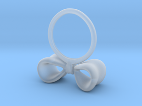 Bow ring in Smooth Fine Detail Plastic
