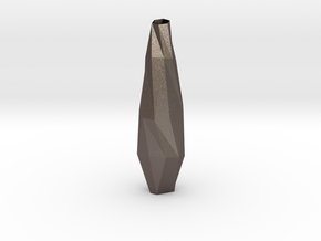Vase (tall) in Polished Bronzed Silver Steel
