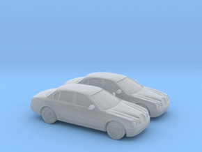 1/148 2X 1998 Jaguar S Type in Smooth Fine Detail Plastic