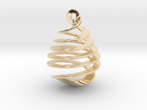 Earring Twisted in 14k Gold Plated Brass