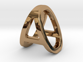 AO OA - Two way letter pendant in Polished Brass