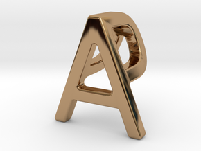 AP PA - Two way letter pendant in Polished Brass