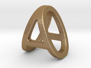 AO OA - Two way letter pendant in Matte Gold Steel