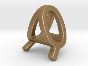 AQ QA - Two way letter pendant in Matte Gold Steel